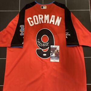 Nolan Gorman Signed 2017 Futures Game Jersey Autographed Auto CardInals JSA COA