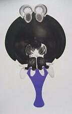 Rare gravure aquatinte nimbe crucifère de François LUNVEN ( DADO FRED DEUX ) **