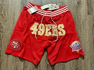 Just Don x Mitchell & Ness San Francisco 49ers NFL Shorts 100% Authentic LIMITED