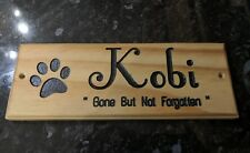 Animal pet memorial wooden plaque sign personalised wood plaque