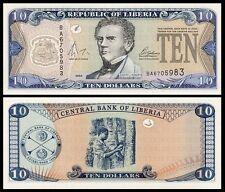 Liberia 10 DOLLARS 2004 P 27b UNC