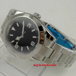 36mm BLIGER black dial sapphire glass japan miyota NH35A automatic mens watch