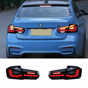 LED Taillights Assembly For BMW F30 F35 12-18 Dark/Red Replace OEM Rear lights