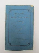 SOCIETE D'EMULATION de la VENDEE année 1896  très rare Roche sur Yon, comices.