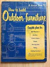 1953 Sunset How To Build Outdoor Furniture Mid Century Modern Patio table bench