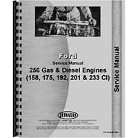 Fits Ford 158 175 192 2000 3000 4000 5000 Gas Diesel Engine Service Manual