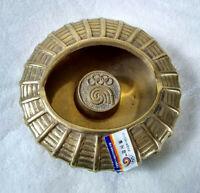 Vintage 1988 Seoul Olympics Souvenir Brass Ashtray Korea