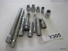 Lot of 13 3/8'' & 1/4'' Drive Sockets, Extension, Adapters: Snap-On, Great Neck,