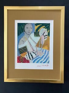 HENRI MATISSE CIRCA 1948 AWESOME SIGNED PRINT MATTED 11 X 14 + BUY IT NOW!!