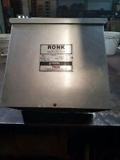 Used Ronk Rotoverter Capacitor Panel Control 240V 60Hz 10HP CEP100 54 Panel Amps