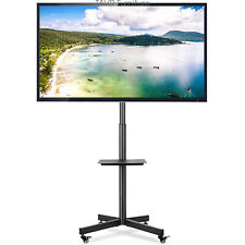 Mobile TV Stand with Locking Wheels/Tilt Mount for Most 32-60 Inch LCD LED TVs