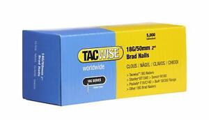 5000 Tacwise 18 Guage 50mm Brad Nails Galvanised for Nail Guns 18G - 0401