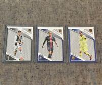 Set of 3 Cristiano Ronaldo,Neymar Jr.,Lionel Messi Panini Donruss Soccer Card NM
