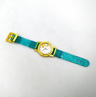 Fit For 18'' American Girl Causal Toy Blue & Gold Wrist Watch Doll Accessories