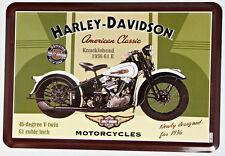 Licenced Harley Davidson Knucklehead 1936 61 E American Classic Metal Postcard