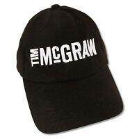 "TIM McGRAW ""LOGO"" BLACK BASEBALL CAP HAT NEW OFFICIAL ADULT BAND MUSIC"