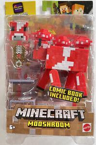 Minecraft Comic Maker Mooshroom Action Figure Brand New