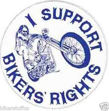 I SUPPORT BIKERS RIGHTS VINTAGE STICKER BUMPER STICKER LAPTOP STICKER TOOLBOX