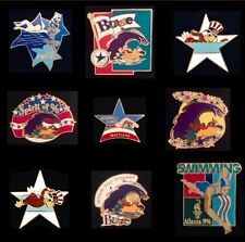 Lot/Set of 9 Swimming Olympic Pin Badge~GREAT COLLECTION!!!~NOS~NEW~Various Yrs