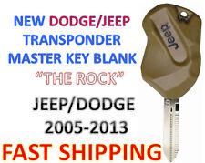 NEW Dodge Jeep Transponder Ignition Chip Key - New - USA Seller - THE ROCK