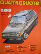 Quattroruote 279 1979 Prove Ford Fiesta, Chrysler-Simca Sunbeam 1000. BMW [Q97]