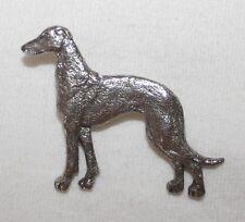 GREYHOUND Grey Hound Dog Fine PEWTER PIN Jewelry Art USA Made