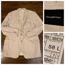 Recent Ermenegildo Zegna Cashmere Rayon Pocket Blazer Eu 58 US 48L