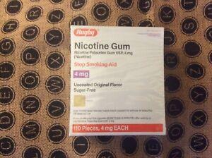 Nicotine Gum Original Flavor 4mg 110 Pieces