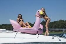 Swimline Solstice Water Sport Inflatable Flamingo 1 to 2 Rider Boat Towable Tube