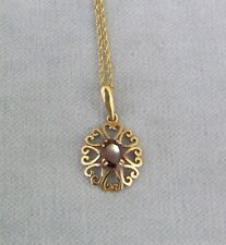 Halskette Gold Kette 375 / 9 C mit Anhänger ✹KEIN Altgold / Bruchgold 46 cm ✹