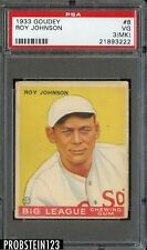 1933 Goudey #8 Roy Johnson Boston Red Sox PSA 3(MK) VG