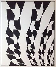 Hans HINTERREITER (1902-1989) Affiche 72 Signée Crayon 100x69cm abstrait Op Art