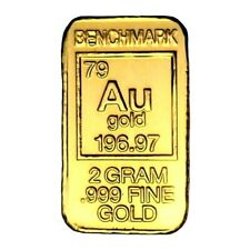 2 Gram .999 Fine 24k Gold Bullion Bar - In Assay Card