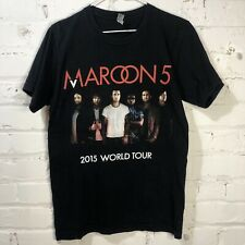 Maroon 5 World Tour 2015 Men's Black Concert Tee T Shirt Usa Made Size S