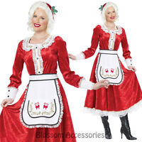 CL213 Classic Mrs Claus Santa Claus Christmas Long Dress Costume Xmas Outfit