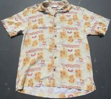 Rare Disney MOUSEKETEERS Vintage Print Button Hawaiin Tiki Rayon Shirt Small