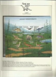 81596/ Dinosaurier Fauna Tiere ** MNH OHNE VORDRUCK GABUN