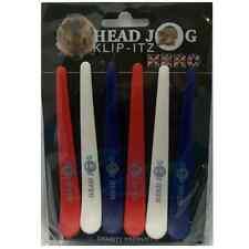 Head Jog klip-itz, professionnel coiffure clips pinces, Union Jack, la charité x6