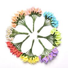 12x mousse Calla fleur artificielle bouquet bricolage scrapbooking décor U6