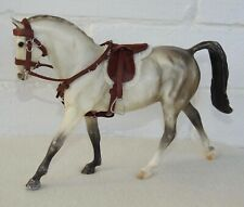 Handmade leather saddle bridle fit 1:12 scale Classic Breyer toy horse brown