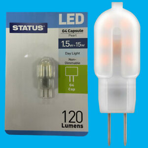 10x 1.5W (=15W) G4 12V Capsule LED 6500K Day Light Bulb, Halogen Replacement