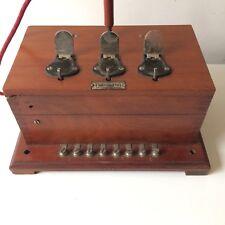 STANDARD TÉLÉPHONIQUE d'HÔTEL Années 40 en Bois/ Ancient Telephone Switchboard