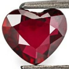 Lab Created Hydrothermal Ruby Heart Faceted Loose Stones (3x3mm - 10x10mm)