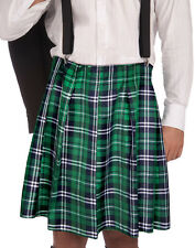 Naughty Kilt & Shorts Plaid Irish Skirt St. Patricks Day Mens Halloween Costume