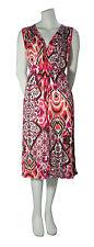 Ringella Kleid 42 Freizeit V Ausschnitt Ärmellos Modal Animalprint Orange Pink