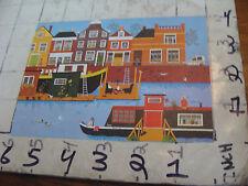 Kennett Neily Postcard: RUHE AM KANAL riverboats by KUNSTVERLAG DEUTSH