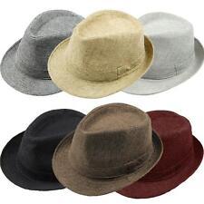 1x Elegant Summer Beach Hat Sun Men Women Trilby Fedora Jazz Panama Gangster Cap