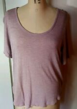 Madewell blush pink rose high low soft viscose short sleeve tee t shirt top L