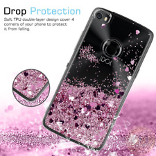 Cute Shiny Glitter Moving Quicksand Clear TPU Protective Case for Alcatel Idol 5