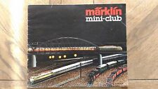 Catalogue Vintage « Marklin Mini-Club » 1982 Très Bon Etat.